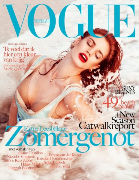 Rianne ten Haken Catches Waves for Vogue Netherlands' July/August 2012 Cover