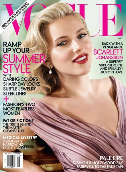Scarlett Johansson Covers Vogue US May 2012