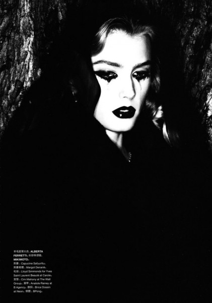 Sigrid Agren by Ben Hassett for <em>Numéro China</em> December 2010