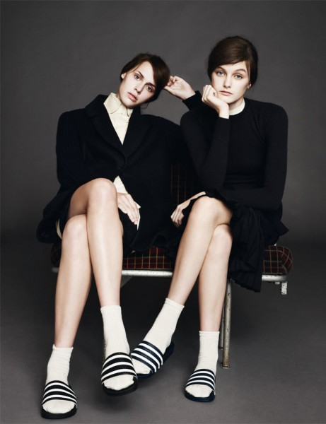 Andie Arthur &#038; Georgia Hilmer by Aitken Jolly for <em>b Magazine</em> #5