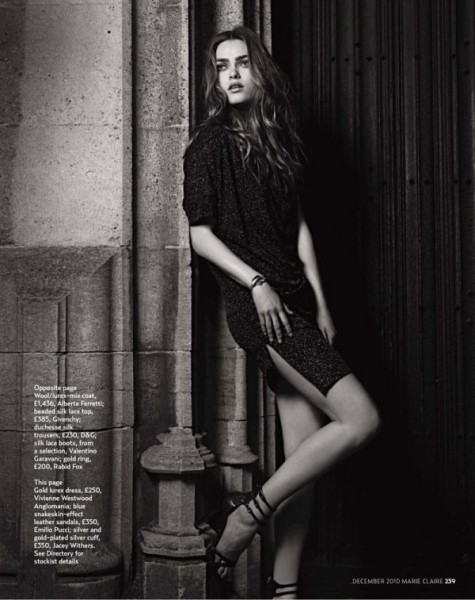 Sophie Vlaming by Kim Myers Robertson for <em>Marie Claire UK</em> December 2010
