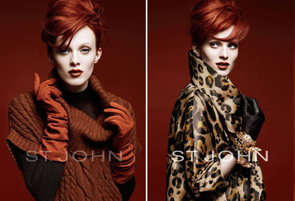 St. John Fall 2010 Campaign Preview | Karen Elson by Greg Kadel