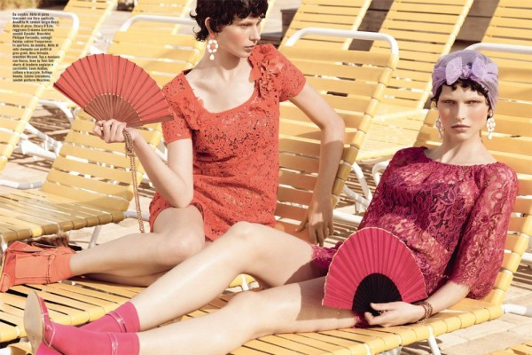 Karlina Caune & Monika Sawicka by KT Auleta for Vogue Italia May 2012