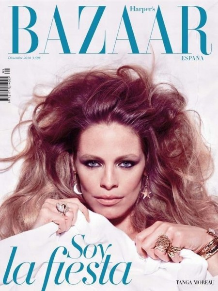 <em>Harper&#8217;s Bazaar Spain</em> December 2010 Cover | Tanga Moreau by Nico