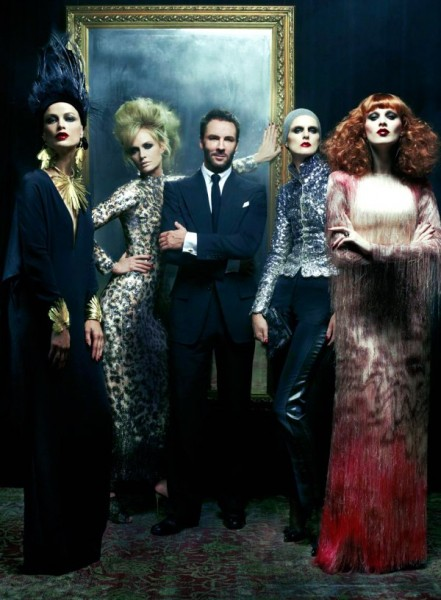Mr. Ford Returns for <em>Vogue US</em> December 2010 by Steven Meisel