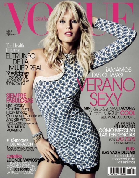 Toni Garrn Slips into Stella McCartney for Vogue Spain's June Cover