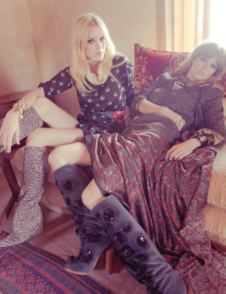Ashley Smith &#038; Masha Novoselova by Ahmet Polat for <em>Vogue Turkey</em>