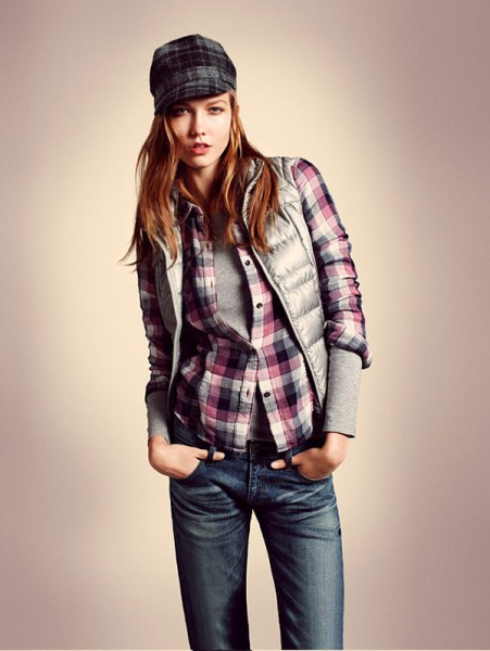 Karlie Kloss, Angela Lindvall & Du Juan for Uniqlo Fall 2010 Lookbook