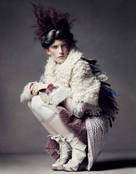 Valerija Kelava by Lachlan Bailey for <em>Vogue China</em> November 2010