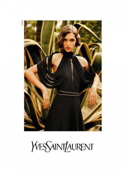 Yves Saint Laurent Spring 2011 Campaign Preview | Arizona Muse by Inez & Vinoodh