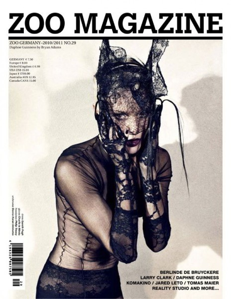 Daphne Guinness for <em>Zoo</em> #29 Winter 2010 Cover