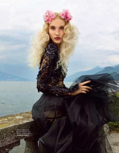 Nikolay Biryukov Shoots Romantic Styles at Lake Como for Elle Ukraine November 2012