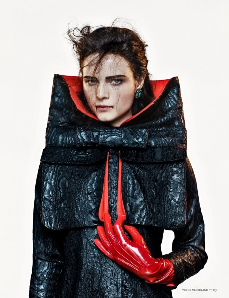 Anna de Rijk Dresses for Halloween in Vogue Netherlands' November Issue, Lensed by Marc de Groot