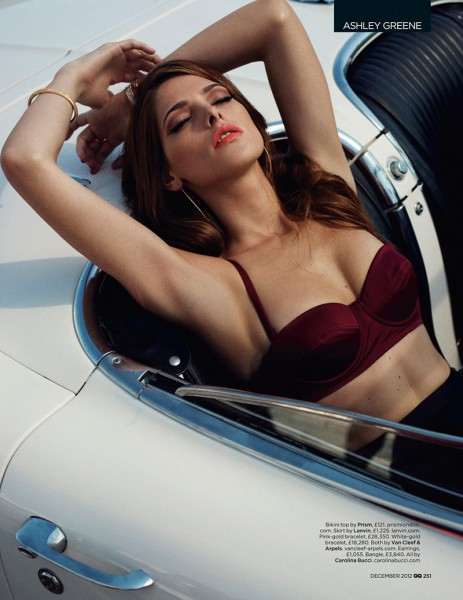 Ashley Greene Stars in GQ UK's December 2012 Cover Shoot by Benny Horne