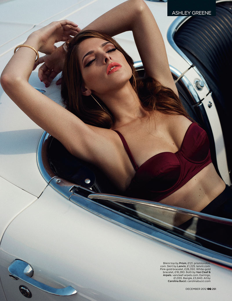 ashley greene3 Ashley Greene Stars in GQ UKs December 2012 Cover Shoot by Benny Horne