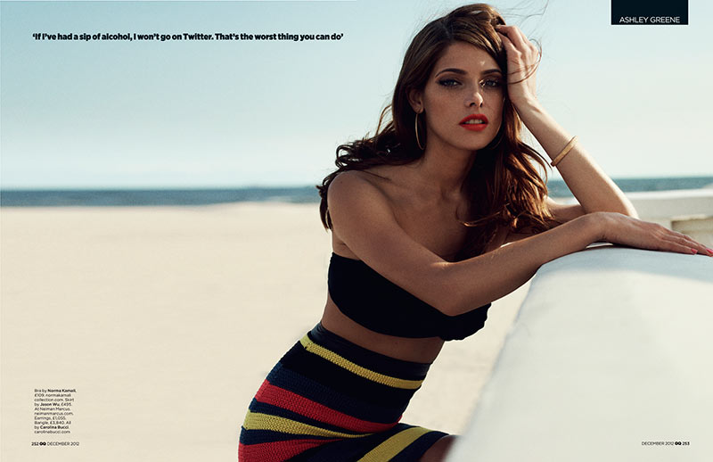 ashley greene4 Ashley Greene Stars in GQ UKs December 2012 Cover Shoot by Benny Horne