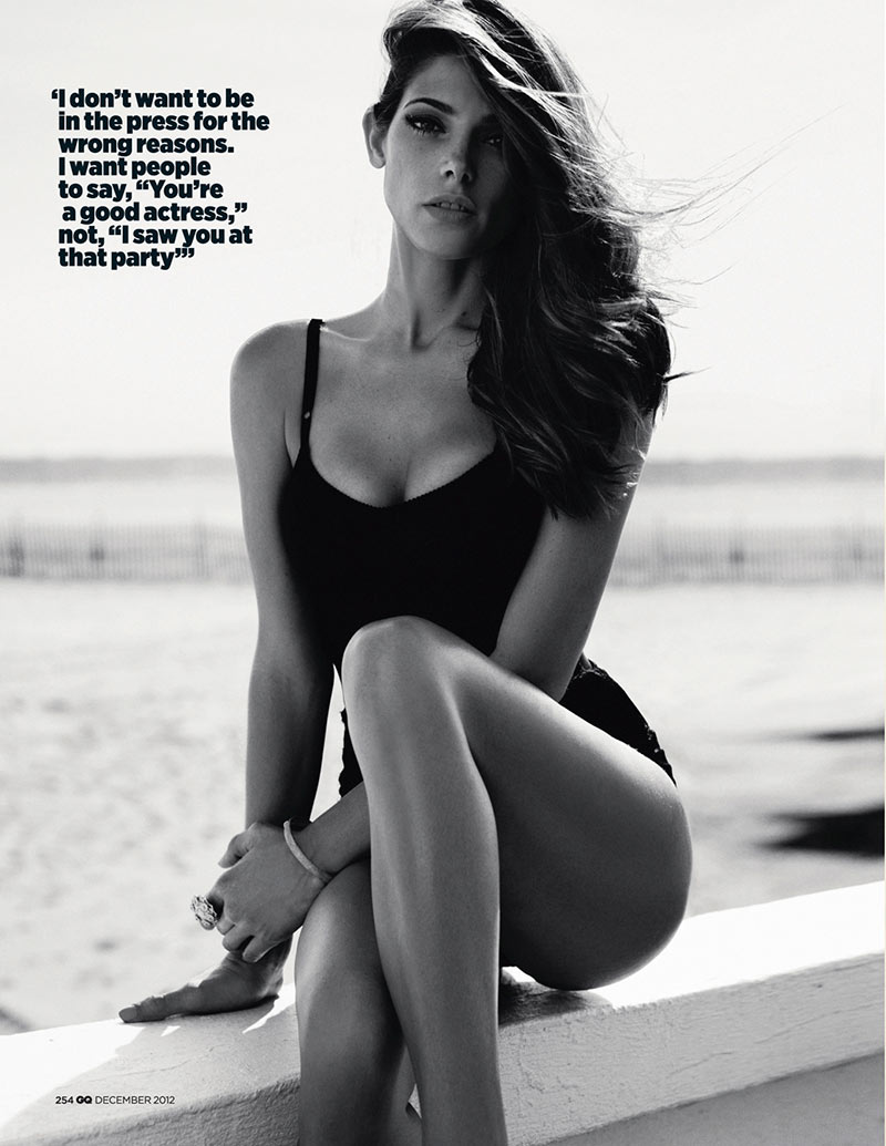 ashley greene5 Ashley Greene Stars in GQ UKs December 2012 Cover Shoot by Benny Horne