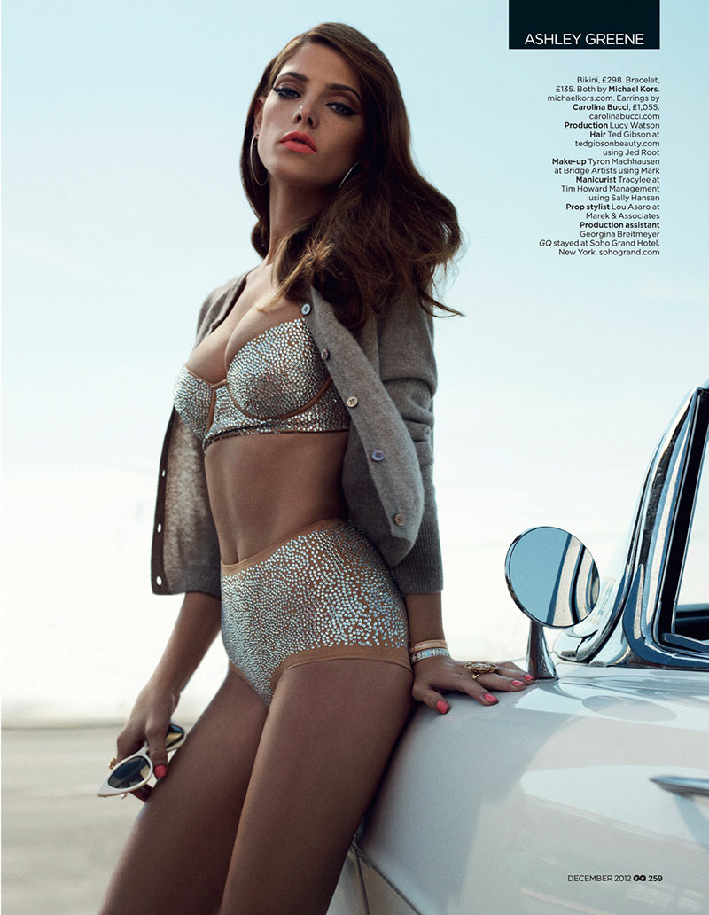 ashley greene7 Ashley Greene Stars in GQ UKs December 2012 Cover Shoot by Benny Horne