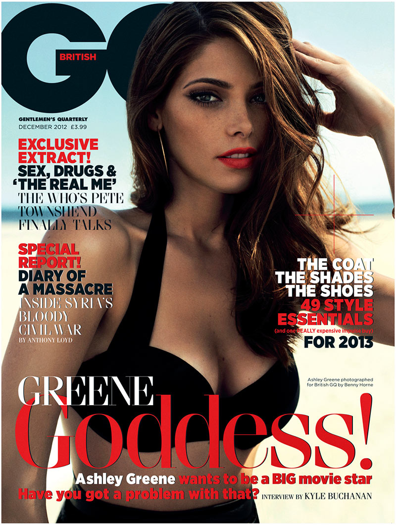 ashley greene8 Ashley Greene Stars in GQ UKs December 2012 Cover Shoot by Benny Horne