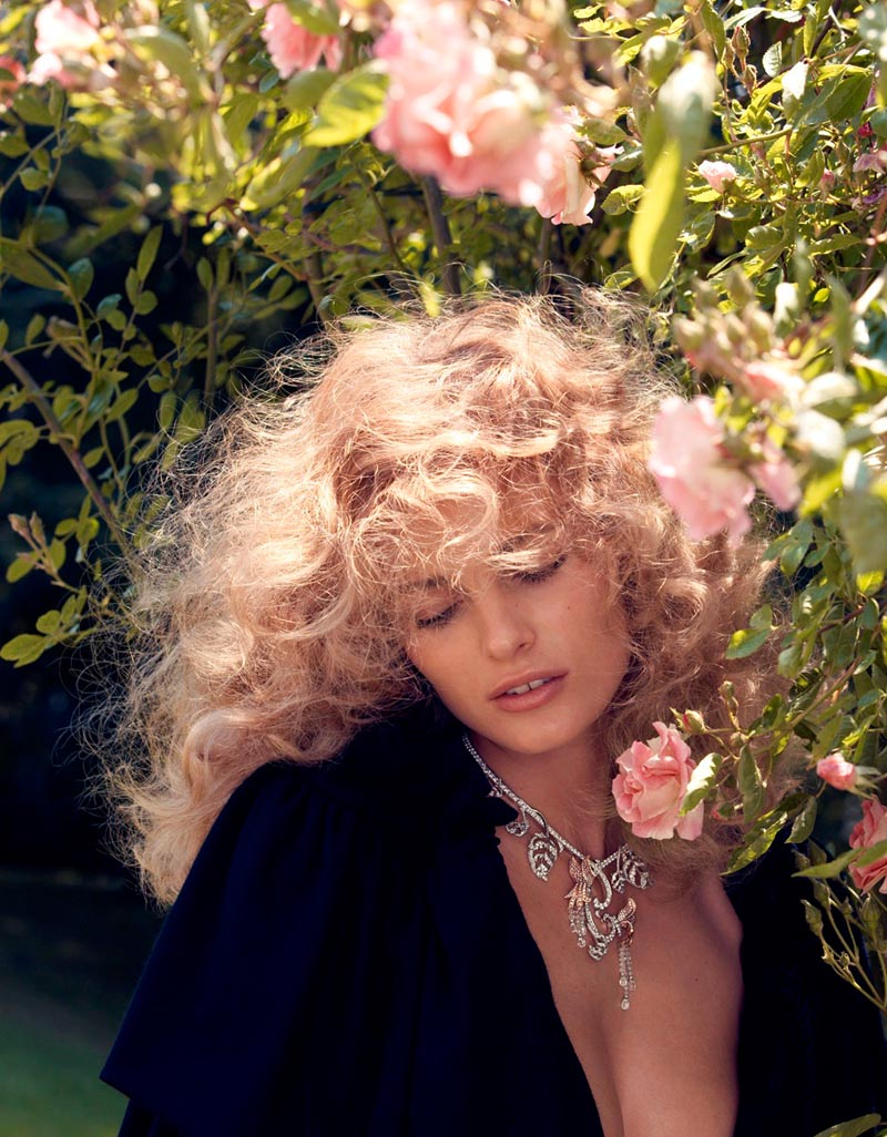 edita vilkeviciute1 Edita Vilkeviciute Sports Romantic Looks for Vogue Japan by Camilla Akrans