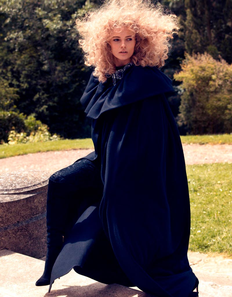 Edita Vilkeviciute Sports Romantic Looks for Vogue Japan by Camilla Akrans