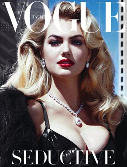 Kate Upton is Seductive for Vogue Italia's November 2012 Cover by Steven Meisel