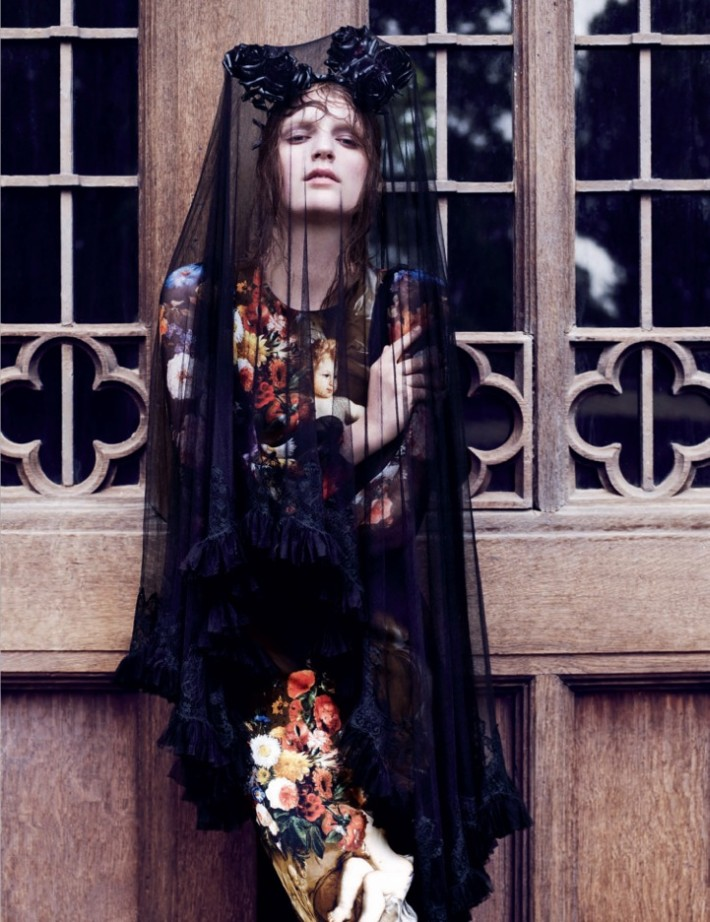 Laura Kampman Dons Divine Fashion for Interview Russia November 2012 by Ben Toms