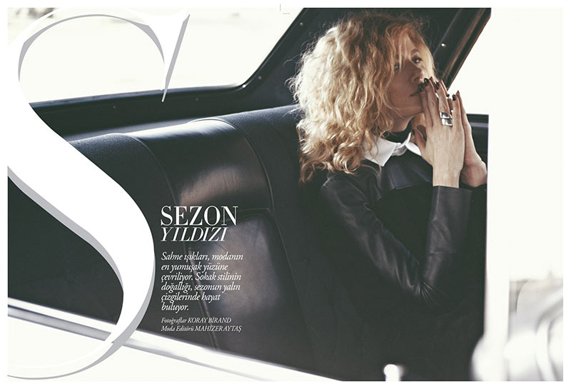 Michelle Buswell Poses for Koray Birand in Harper's Bazaar Turkey's November 2012 Cover Shoot