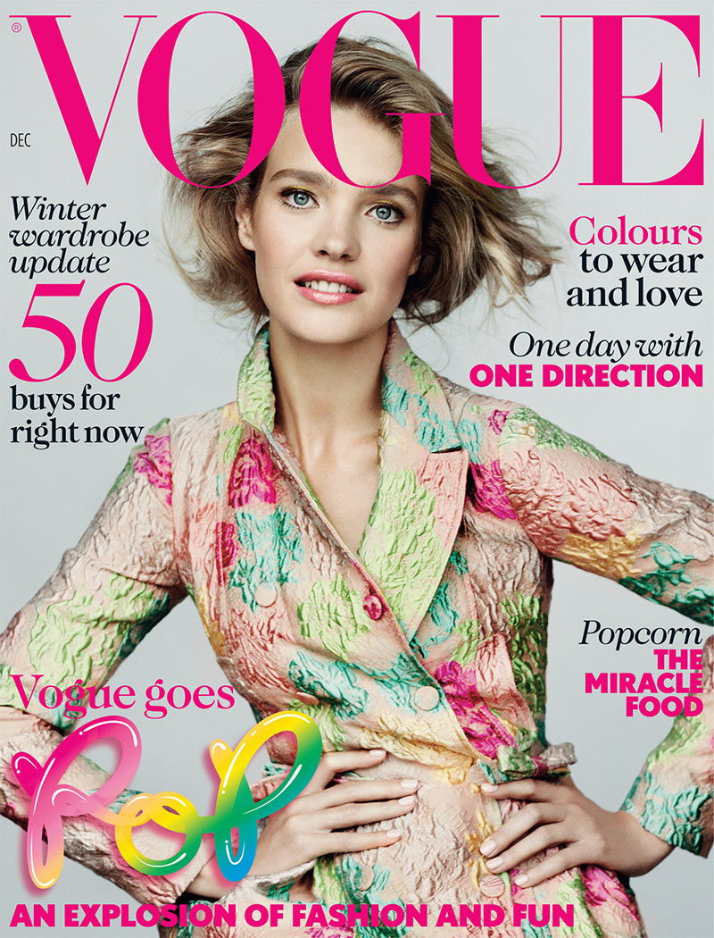 nataliacover Natalia Vodianova Graces the December 2012 Cover of Vogue UK