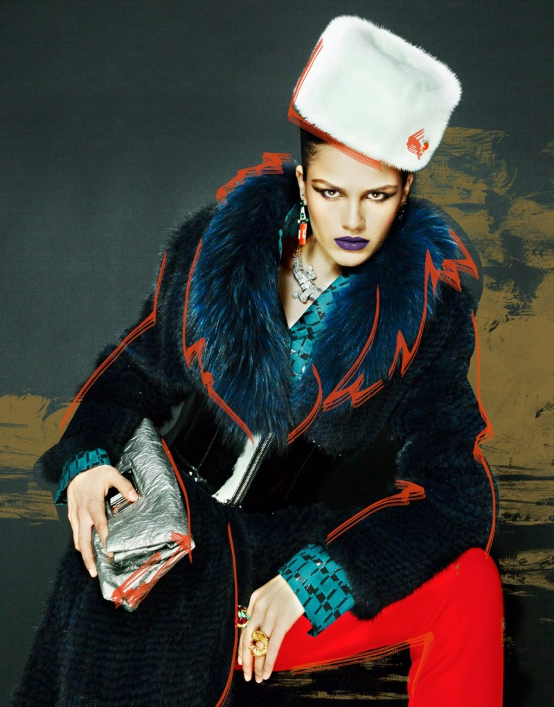 nikolay fur5 Nikolay Biryukov Captures Illustrative Style for Interview Russias November Issue