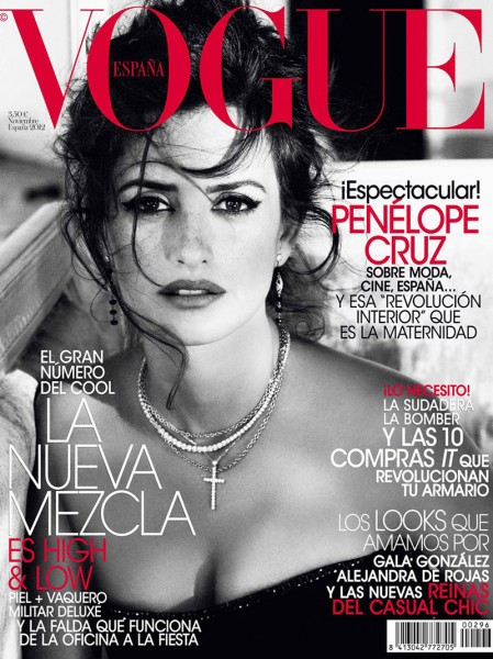 Penelope Cruz Mesmerizes on the November 2012 Cover of Vogue Spain
