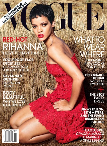 Rihanna Stuns in Valentino on the Cover of Vogue US November 2012