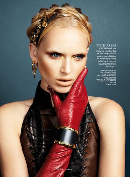 Valeria Dmitrienko Models Radiant Beauty for Elle Vietnam, Lensed by Stockton Johnson