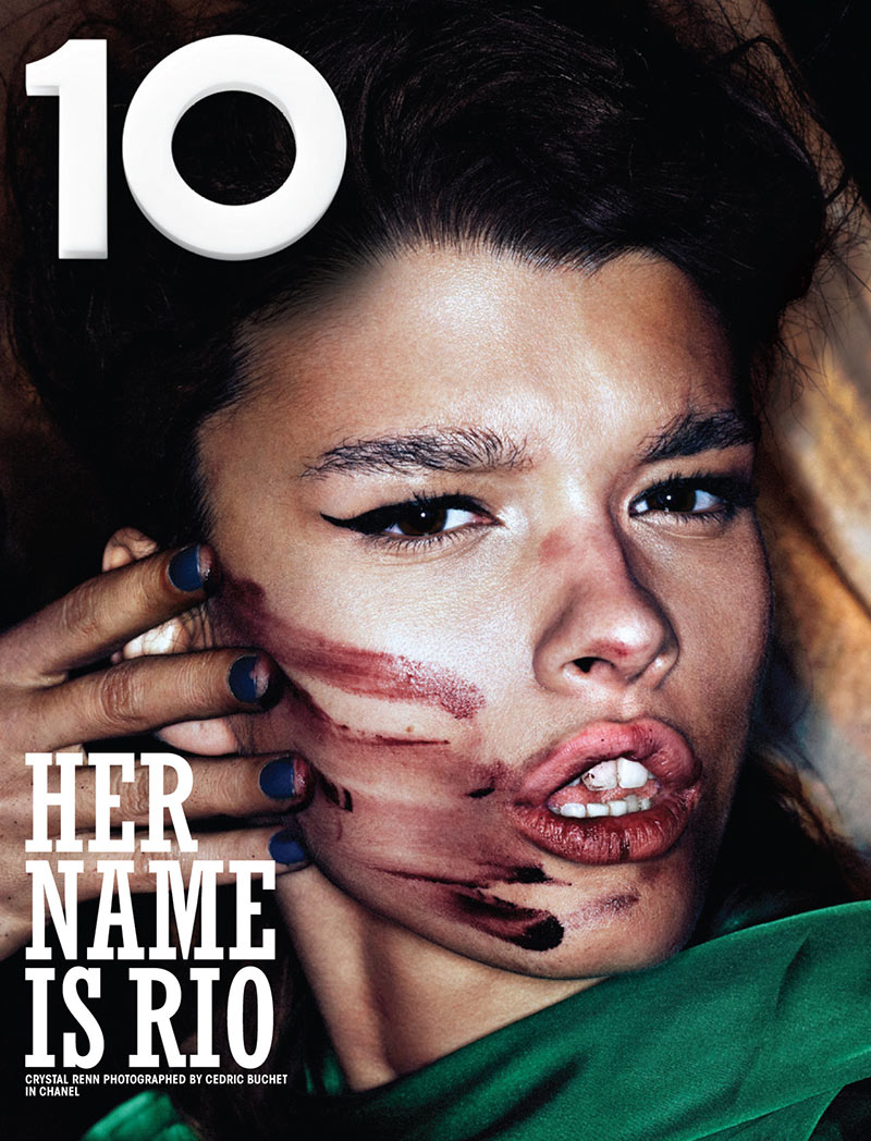 10cover0 Candice Swanepoel and Crystal Renn Cover 10 Magazines Rio Issue