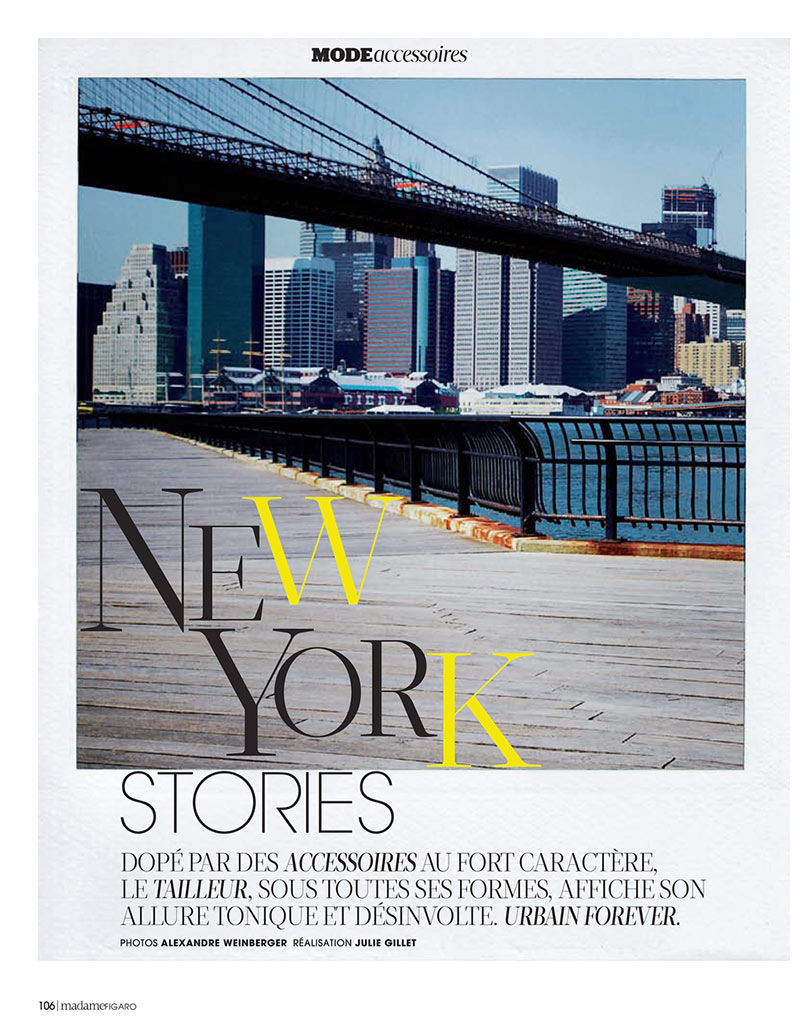 AlexandreNY1 Alexandre Weinberger Captures a New York Story for Madame Figaro November 2012