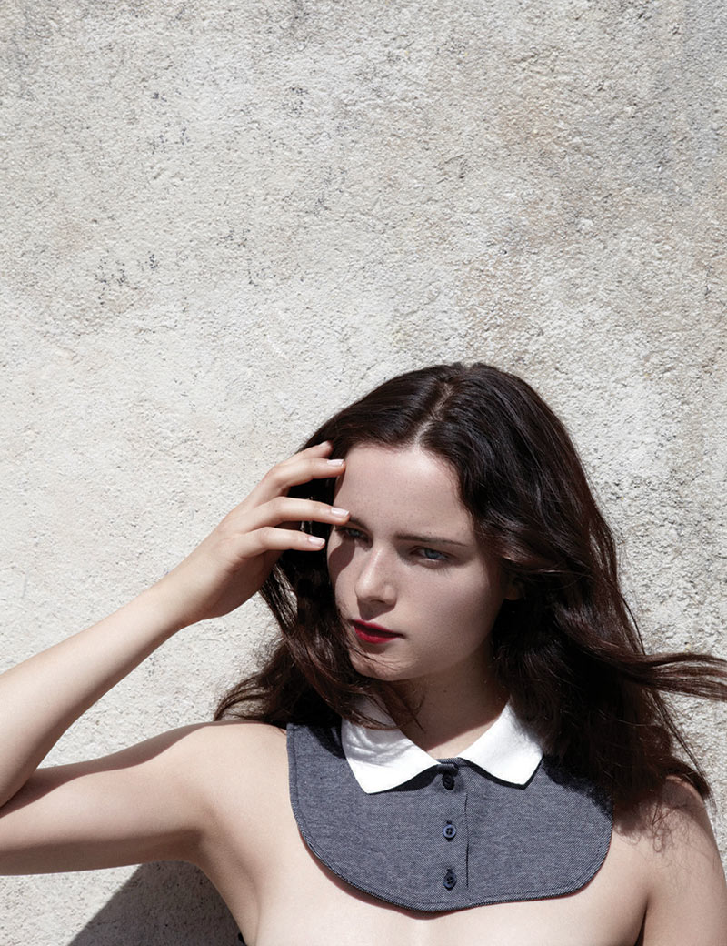 AnnaCarven2 Anna de Rijk Sports Elegant Knits for the Carven x Petit Bateau Collection