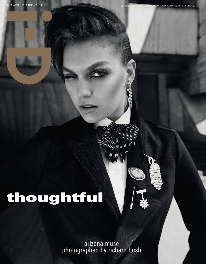 ArizonaBush13 Arizona Muse Sports Boyish Looks for i Ds Winter 2012 Cover Shoot by Richard Bush