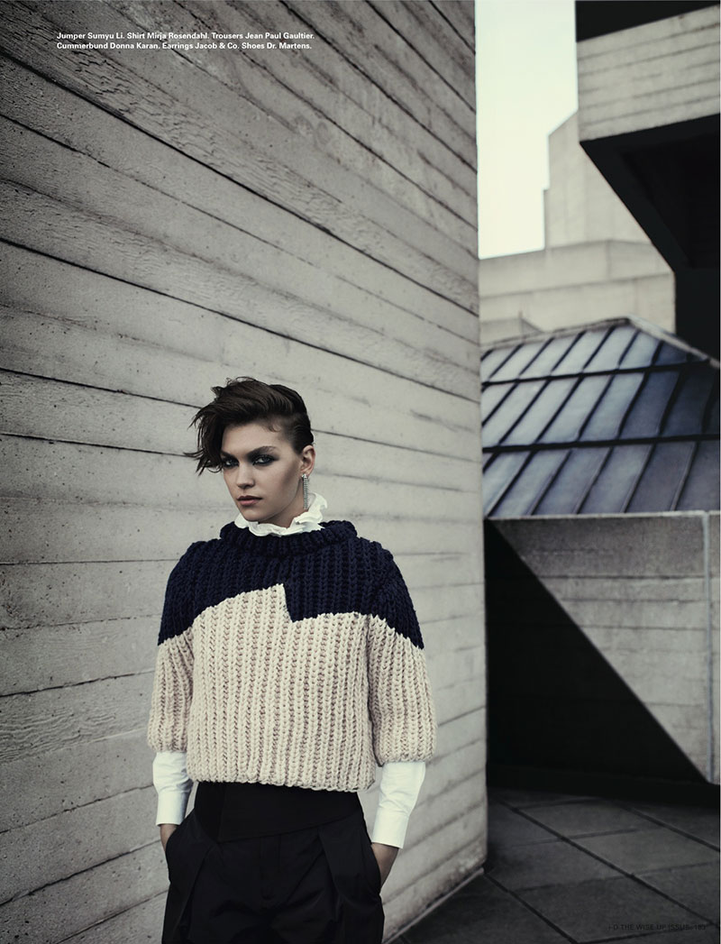 ArizonaBush6 Arizona Muse Sports Boyish Looks for i Ds Winter 2012 Cover Shoot by Richard Bush