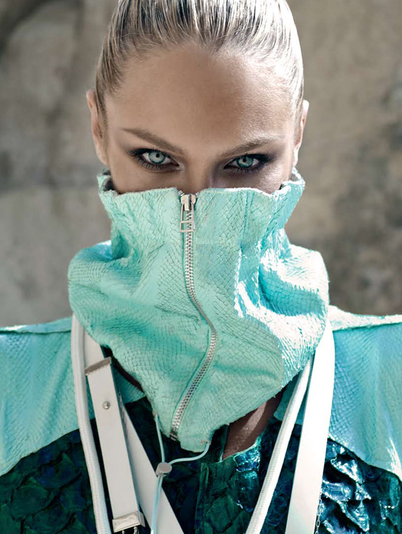 CandiceElle11 Candice Swanepoel Takes on Sporty Glam Style for Elle Brazil