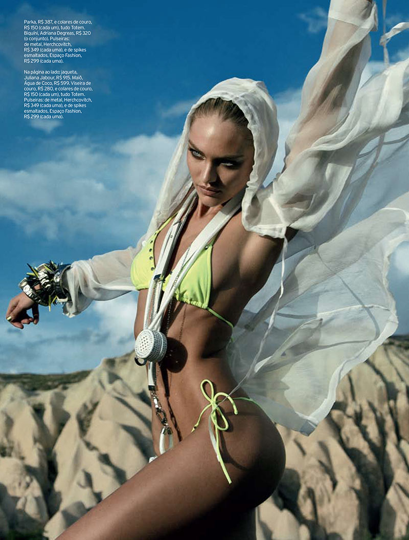 CandiceElle4 Candice Swanepoel Takes on Sporty Glam Style for Elle Brazil