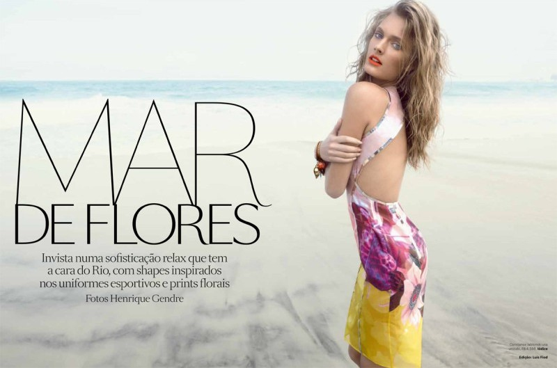 ConstanceBrazil11 Constance Jablonski Hits the Beach for Vogue Brazil November 2012 by Henrique Gendre