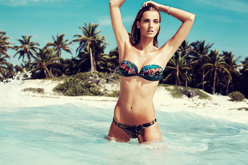 DenisaZimmermann3 Denisa Dvorakova Smolders in Zimmermanns Swim 2013 Campaign