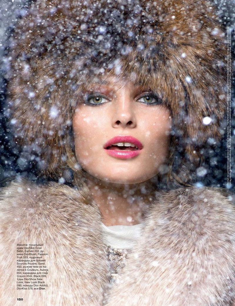 EditaWinter2 Edita Vilkeviciute is a Winter Beauty for Allure Russias December 2012 Cover Shoot by Raymond Meier
