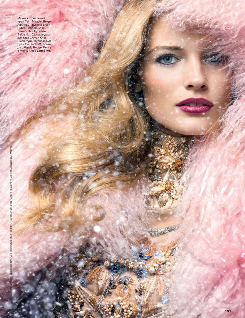 EditaWinter3 Edita Vilkeviciute is a Winter Beauty for Allure Russias December 2012 Cover Shoot by Raymond Meier