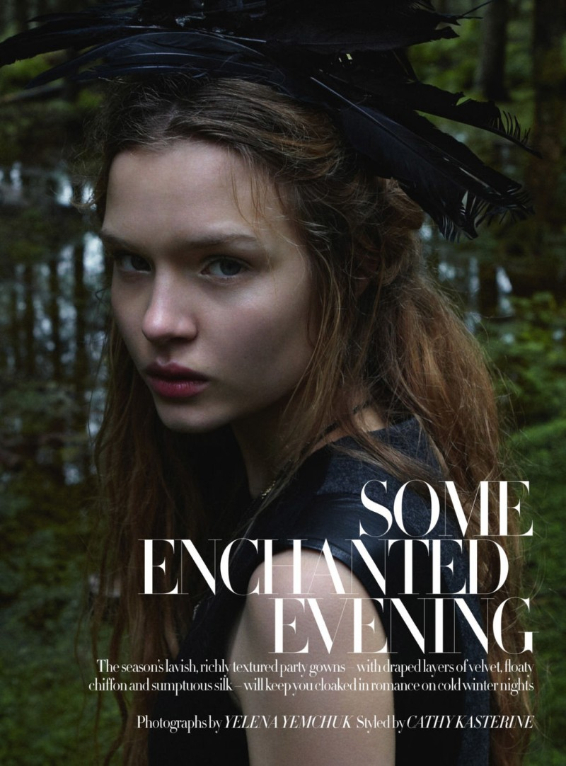 JosephineYemchuk1 Josephine Skriver Gets Enchanted for Harpers Bazaar UK December 2012 by Yelena Yemchuk