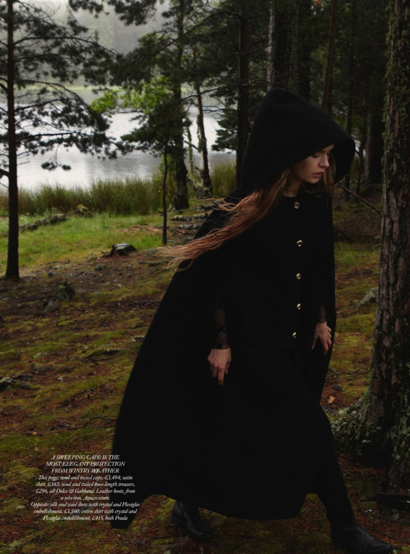 JosephineYemchuk11 Josephine Skriver Gets Enchanted for Harpers Bazaar UK December 2012 by Yelena Yemchuk