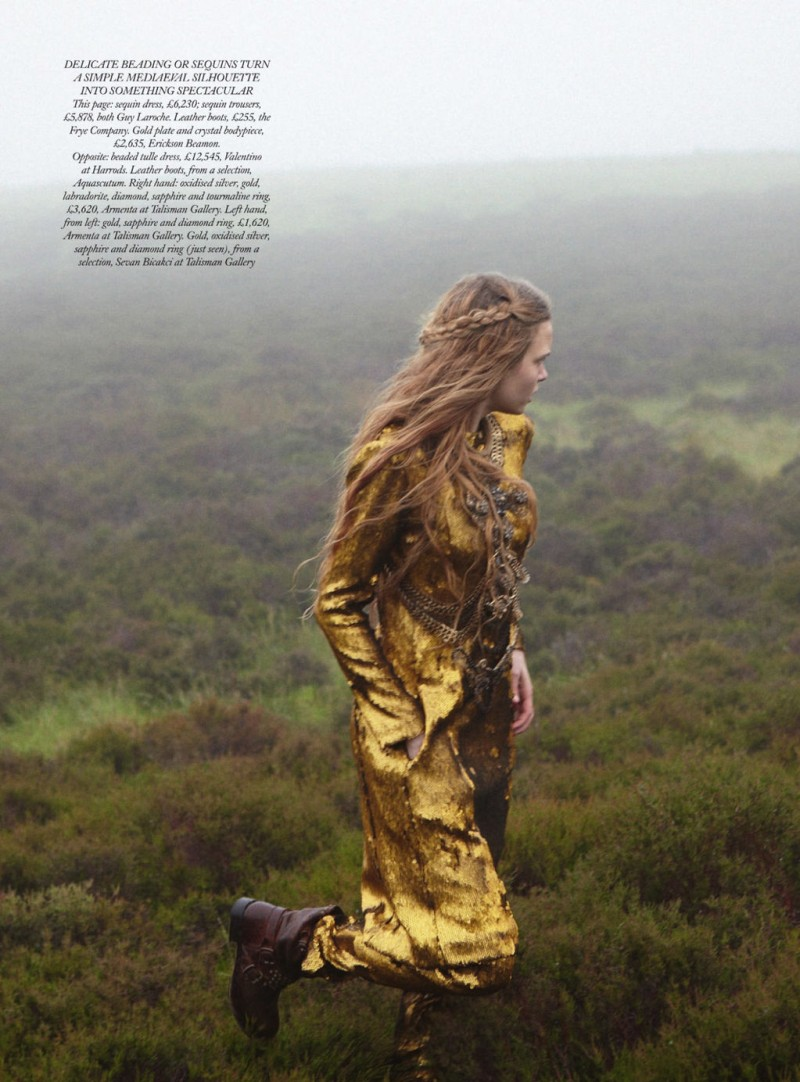 Josephine Skriver Gets Enchanted for Harper's Bazaar UK December 2012 by Yelena Yemchuk