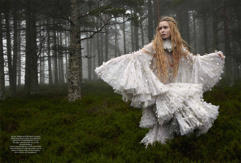 JosephineYemchuk4 Josephine Skriver Gets Enchanted for Harpers Bazaar UK December 2012 by Yelena Yemchuk