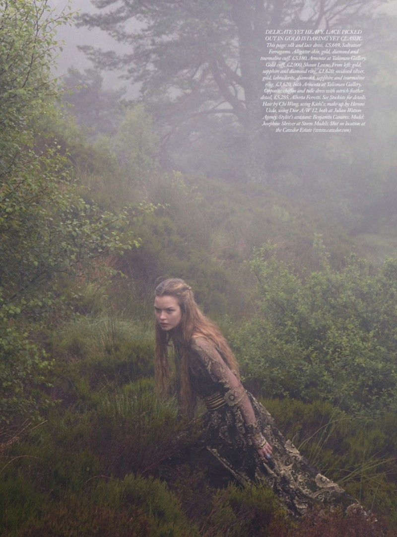 JosephineYemchuk5 Josephine Skriver Gets Enchanted for Harpers Bazaar UK December 2012 by Yelena Yemchuk