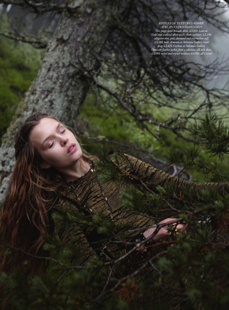 JosephineYemchuk9 Josephine Skriver Gets Enchanted for Harpers Bazaar UK December 2012 by Yelena Yemchuk
